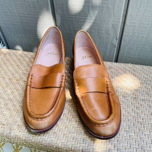 J Crew AL940 Classic Brown English Saddle Loafers